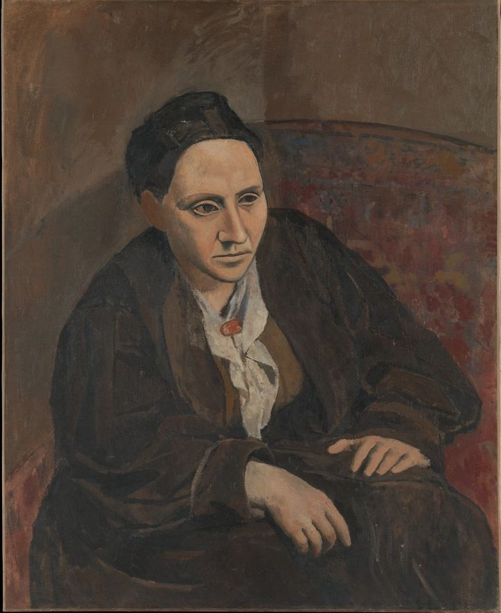 <span>Pablo Picasso, Portrait of Gertrude Stein, 1906</span>