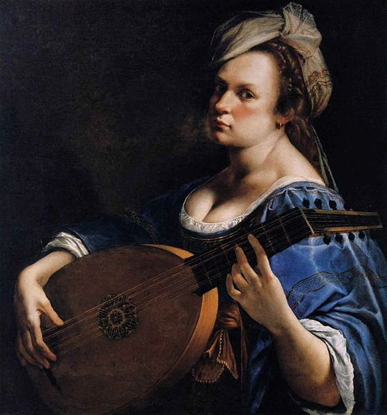<span>Artemisia Gentileschi, Self-Portrait, 1615-1617</span>