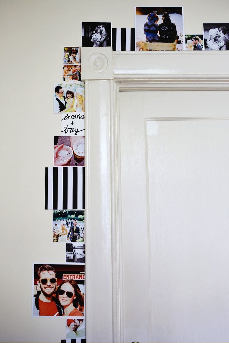 Dress up your boring door frameu0026nbsp;with a photo border that lets you ~express  sc 1 st  HuffPost & 11 Cheap Ways To Make Your College Apartment Look More Grown-Up ...