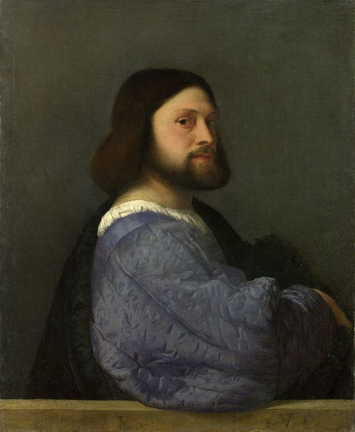 <span>Titian, Portrait of a Man, 1510&nbsp;</span>