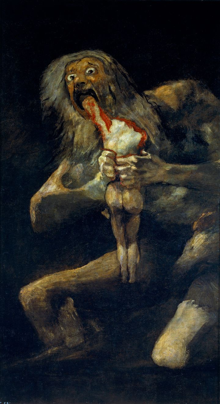 <span>Francisco Goya, Saturn Devouring His Son, 1819&nbsp;</span>