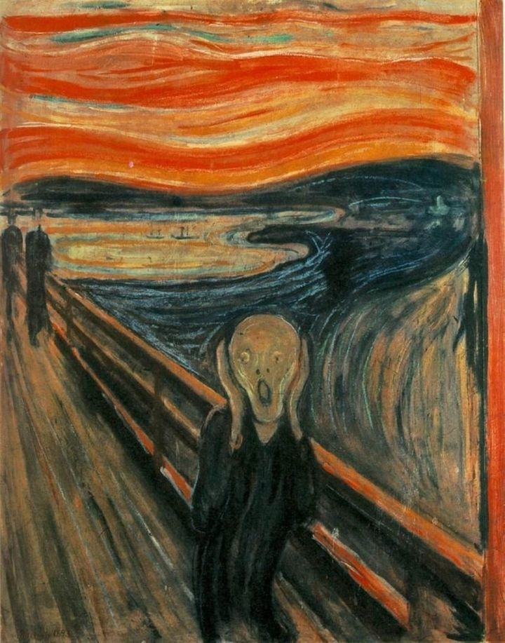 <span>Edvard Munch, The Scream, 1893</span>