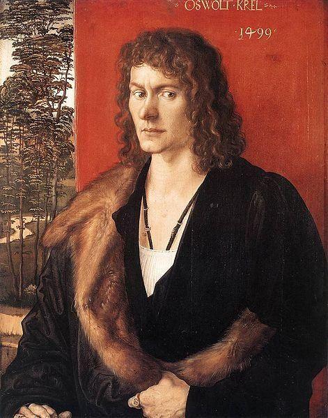 <span>Albrecht Durer, Portrait of Oswolt Krel, 1499</span>
