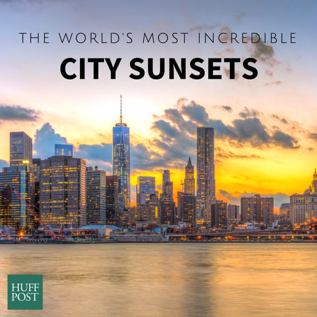 18 Incredible Photos From City Sunsets Around The World