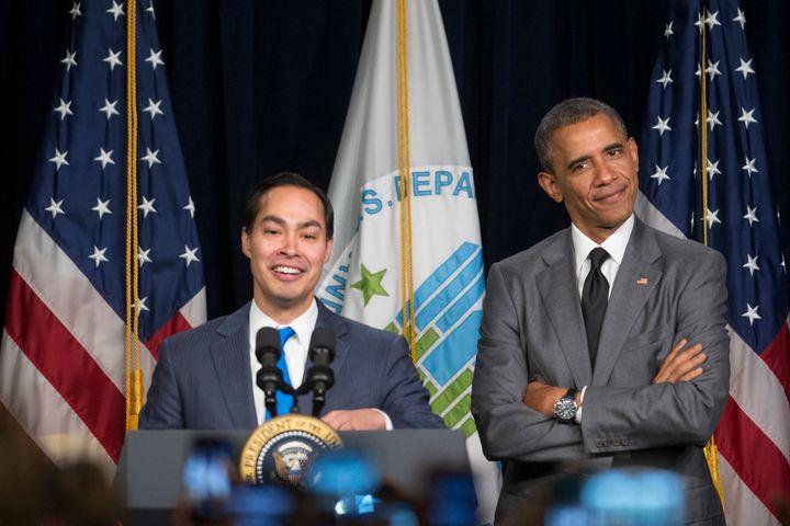 HUD Secretary Julián Castro with President Barack Obama.