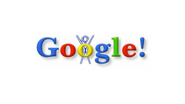 "On August 30, 1998, Brin and Page placed the Burning Man stick figure on Google's logo <a href=""http://www.google.com/do"