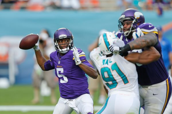 Bridgewater was 6-6 as a starter sans Adrian Peterson, but his nearly 3,000 yards were more impressive. The Louisville p