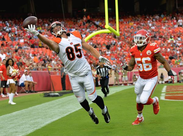 I liked Philly's Zach Ertz here, too, but Eifert is more important to his offense -- an instrumental component to Andy Dalton