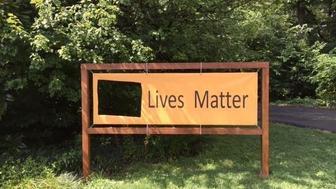 "<p class=""MsoNormal"">The River Road Unitarian Universalist Congregation's&nbsp;""Black Lives Matter"" sign was defaced twice.&nbsp;</p>"