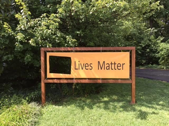 "The River Road Unitarian Universalist Congregation's ""Black Lives Matter"" sign was defaced twice."