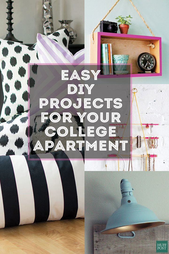 11 cheap ways to make your college apartment look more for College student living room ideas