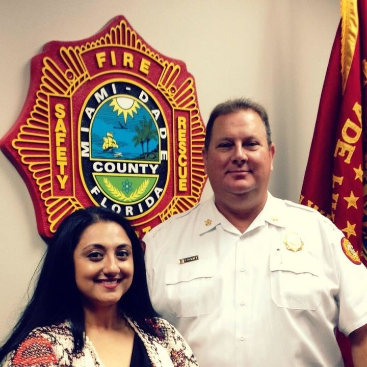 "<p style=""text-align: center;"">Neuroscientist Amishi Jha and Miami-Dade Fire Chief Dave Downey&nbsp;</p>"