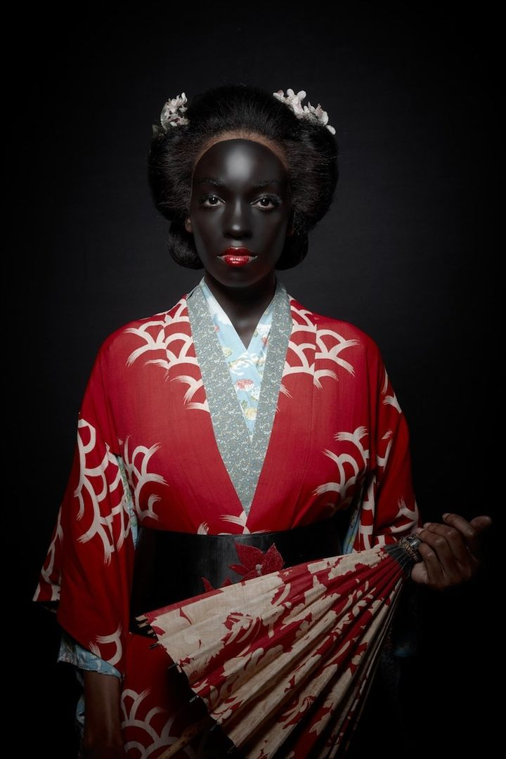 artist photographs geisha in blackface to address changing state of