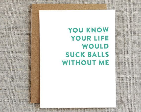Spot on cards for couples who also happen to be best friends