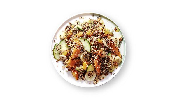 "Oprah says, ""This quinoa salad is delicious with Marcona almonds, but I sometimes substitute toasted pine nuts, because every"
