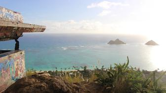 <p>Dancers performed a haka ritual dance at the top of the Lanikai Pillboxes hiking trail</p>