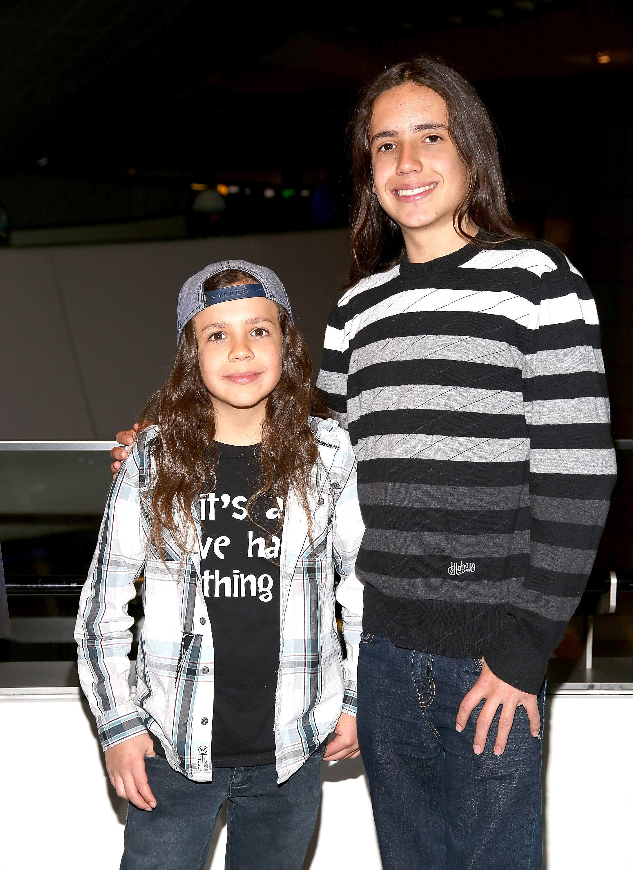 NEW YORK, NY - DECEMBER 04:  Xiuhtezcatl Martinez (L) and Itzcuahtli Martinez  attend New York City Premiere of HBO Documentary Films and the American Museum of Natural History's family special 'Saving My Tomorrow' at American Museum of Natural History on December 4, 2014 in New York City.  (Photo by Paul Zimmerman/WireImage)