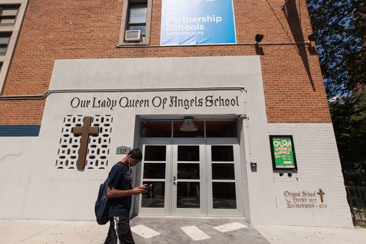 Pope Francis will visit East Harlem's Our Lady Queen of Angels School on Sept. 25.