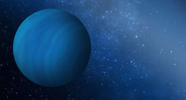 An artist's impression of the missing ice giant planet that may have been ejected from the early solar