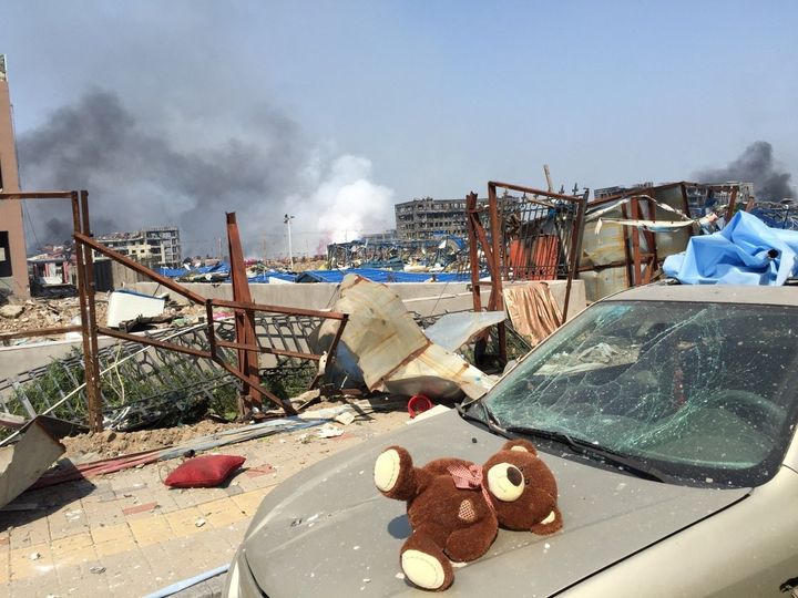 Tianjin in the aftermath of the explosions on Aug. 13, 2015.