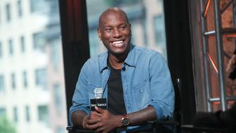 NEW YORK, NY - JULY 08:  Singer/actor Tyrese Gibson discusses the video for his new song 'Shame' at AOL Build speaker series at AOL Studios In New York on July 8, 2015 in New York City.  (Photo by Steve Zak Photography/FilmMagic)