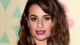 Lea Michele's fuchsia lipstick.