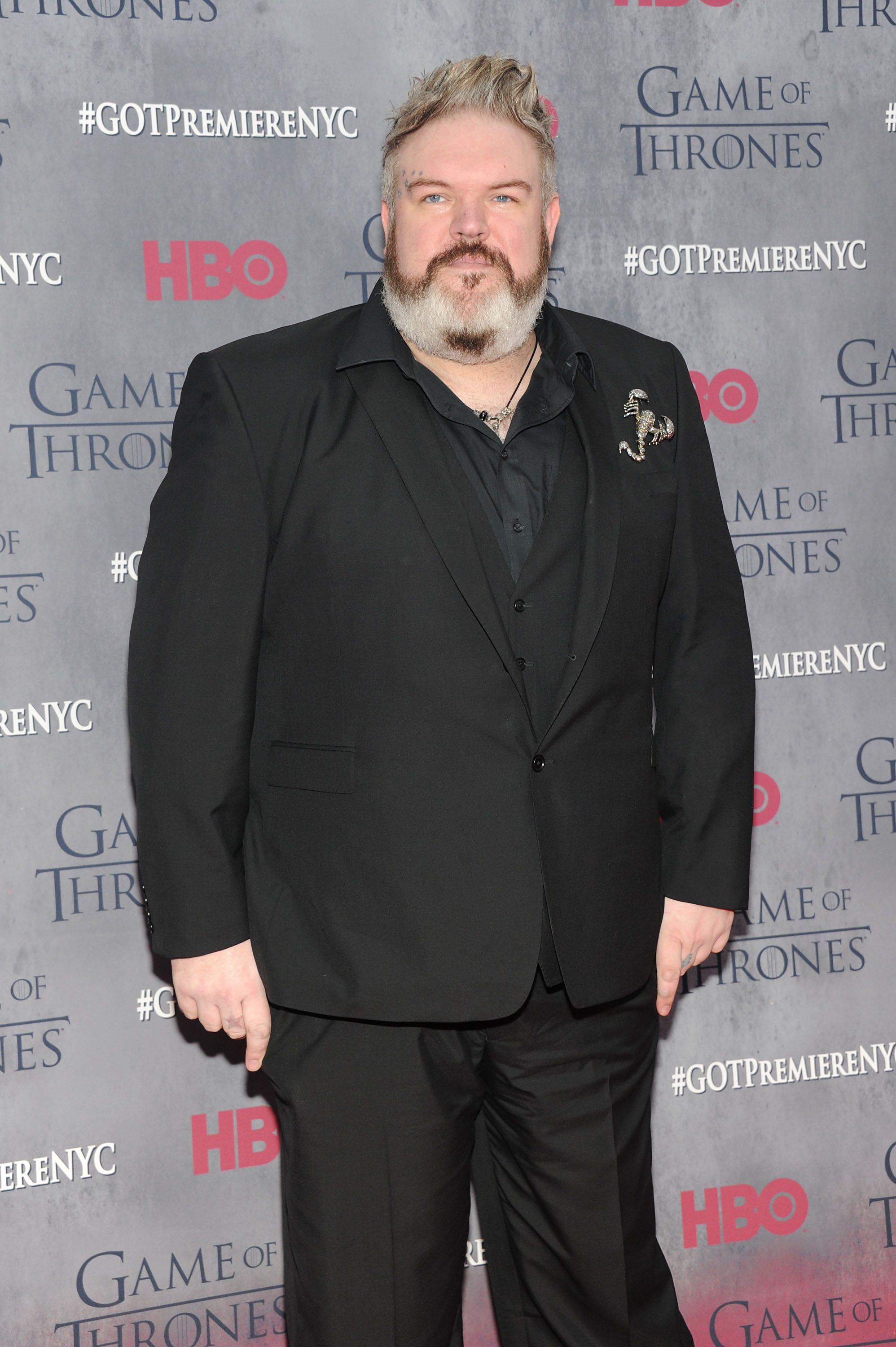 NEW YORK, NY - MARCH 18:  Actor Kristian Nairn attends the 'Game Of Thrones' Season 4 New York premiere at Avery Fisher Hall, Lincoln Center on March 18, 2014 in New York City.  (Photo by Jamie McCarthy/Getty Images)