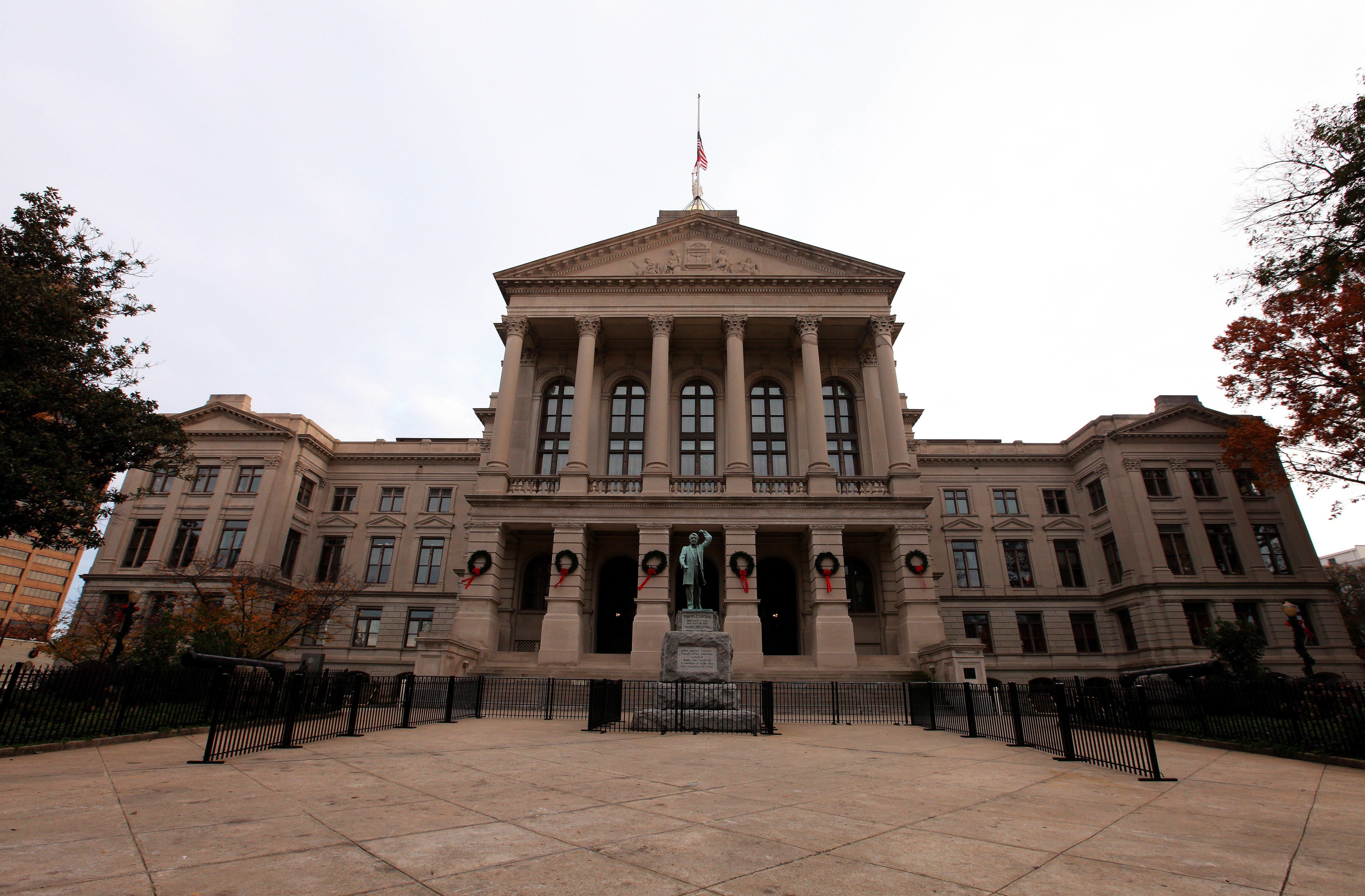 ATLANTA - NOVEMBER 23:  Georgia State Capitol Building, in Atlanta, Georgia on NOVEMBER 23, 2013.  (Photo By Raymond Boyd/Getty Images)