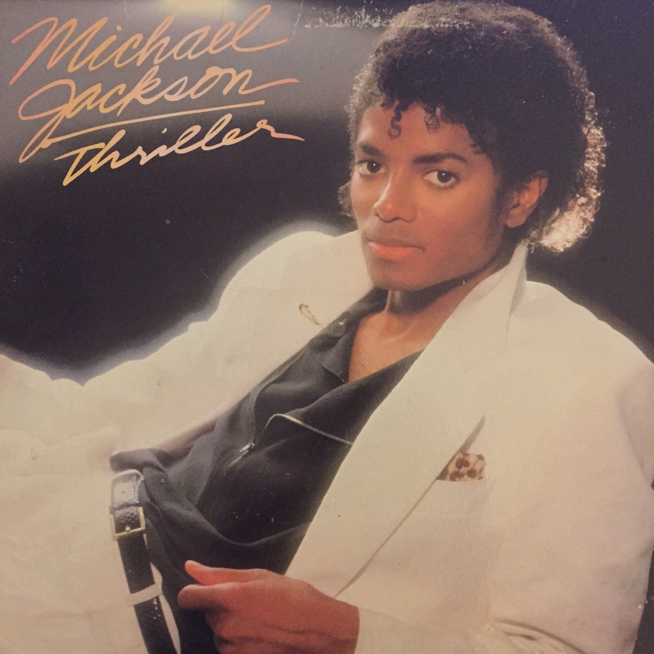 """Michael Jackson's """"Thriller"""" record cover."""