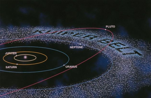 An illustration of the Kuiper Belt.