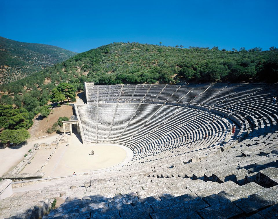 The theater in Epidaurus, Greece, was built during the Hellenistic period around 340 B.C.