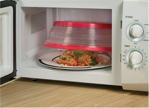 """Get the <a href=""""http://www.amazon.com/Tovolo-81-10109-Collapsible-Microwave-Cover/dp/B000SOS7WG?tag=thehuffingtop-20"""">Tovolo"""