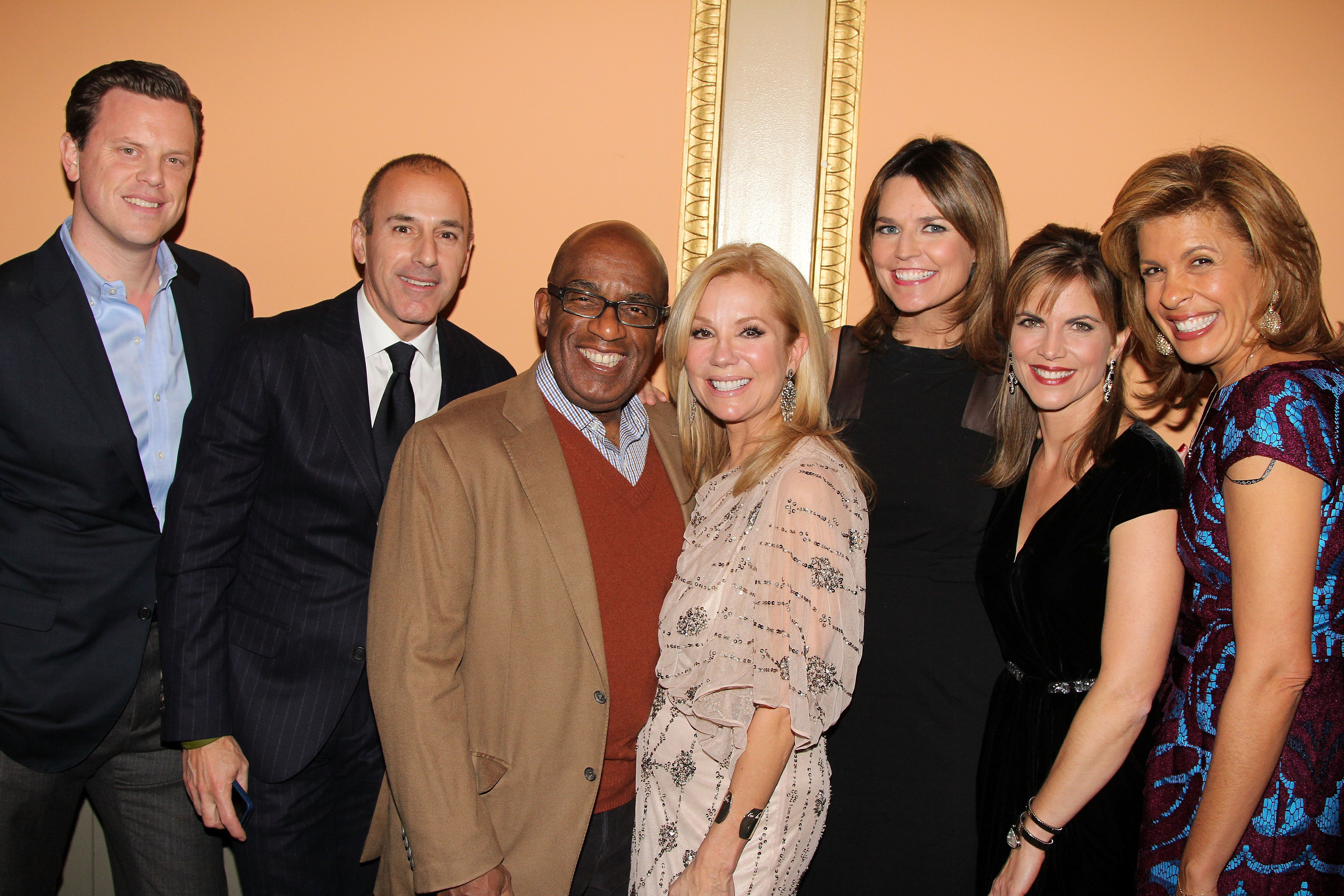 NEW YORK, NY - NOVEMBER 15:  (L-R) Willie Geist, Matt Lauer, Al Roker, Kathie Lee Gifford, Savannah Guthrie,Natalie Morales and Hoda Kotb attend the opening night of 'Scandalous' on Broadway at the Neil Simon Theatre on November 15, 2012 in New York City.  (Photo by Bruce Glikas/FilmMagic)