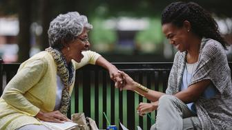 """<p><span style=""""font-family: Arial, Helvetica, sans-serif; font-size: 14px; line-height: 20px; background-color: #eeeeee;"""">Karen Abercrombie, left, and Priscilla Shirer in""""War Room.""""</span></p>"""