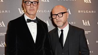 <p>Stefano Gabbana (L) and Domenico Dolce in 2014</p>