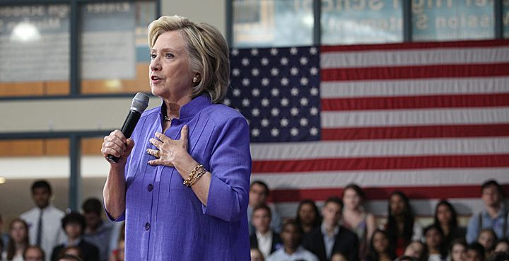 Former Secretary of State Hillary Clinton downplayed an investigation into her private email server on Saturday.