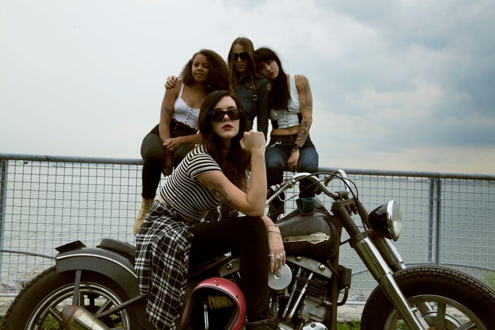Front: Imogen Lehtonen. Back, left to right: Megan Allen, Nina Kaplan and Jenny Czinder