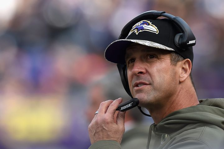 Baltimore Ravens coach John Harbaugh.