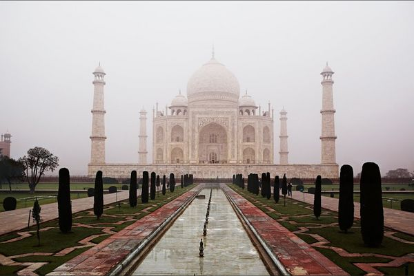 Acres of shimmering white marble and a few thousand semiprecious stones carved and inlaid in intricate Islamic patterns, all