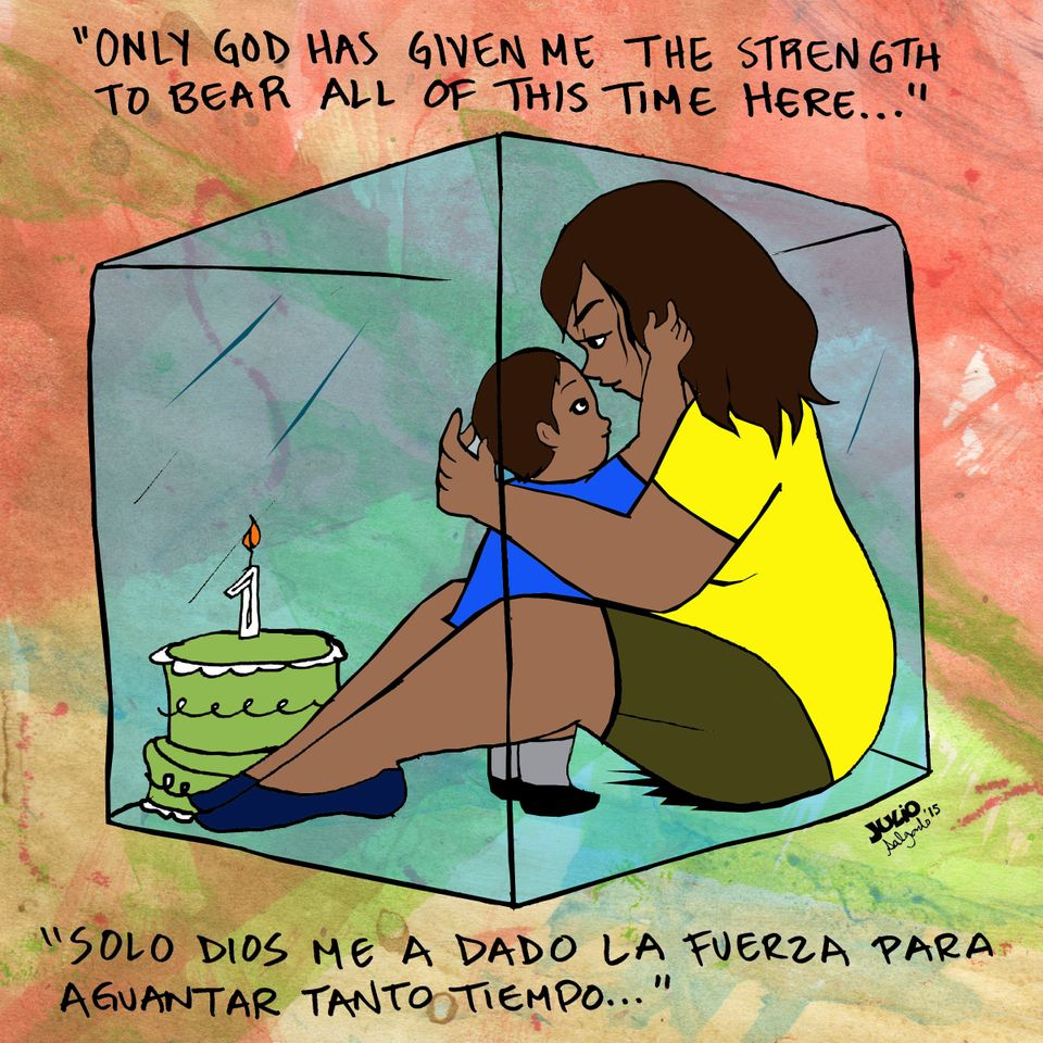 """<em>""""My son&rsquo;s first birthday was here. I would like to get out of here. I&rsquo;ve been here for a long time. I would l"""