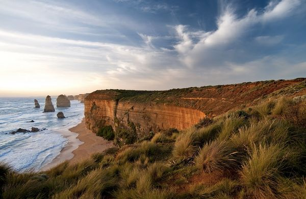 Standing just offthe Great Ocean Road, a scenic treat of limestone coast, the Apostles are the cherry on a very tasty c
