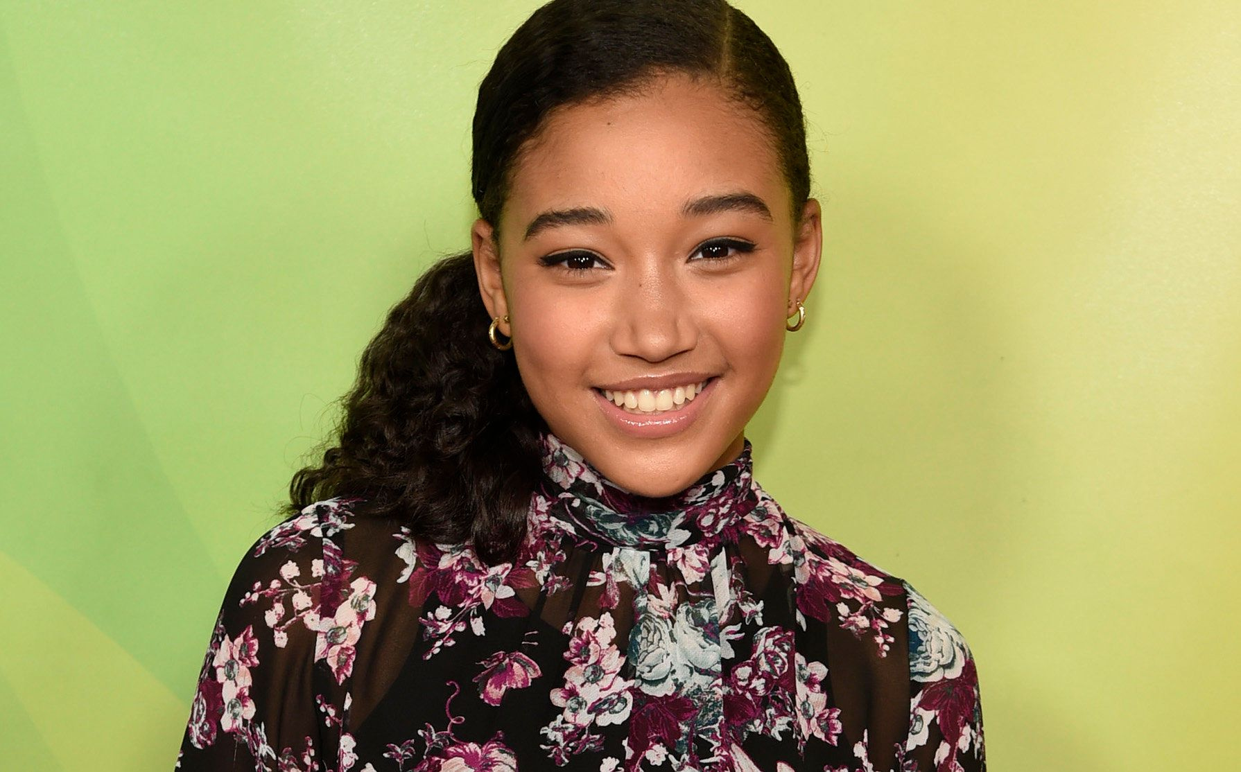 <p>Amandla Stenberg at the NBC Universal Summer Press Day at The Langham Huntington Hotel on April 2, 2015, in Pasadena, California.  </p>