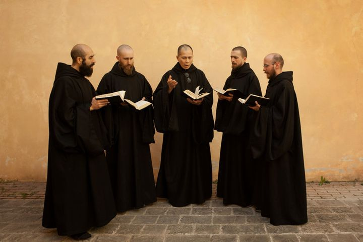 <span>The Monks of Norcia, a group of Benedictine monks in Norcia, Italy. The group&rsquo;s new Gregorian chant CD debuted at
