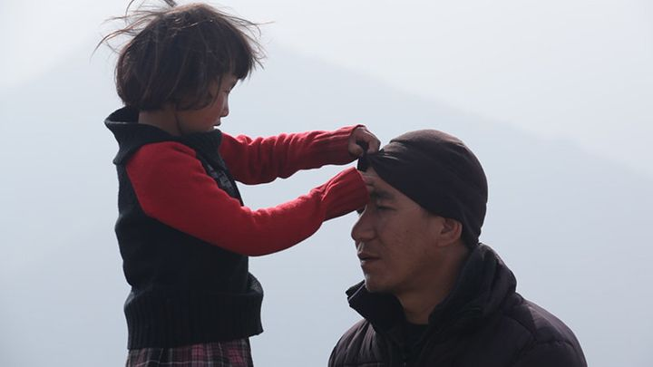 <span>Buddhist monk Phuntsok Lobsang with 5-year-old Tashi in the documentary &ldquo;Tashi and the Monk,&rdquo; co-directed b