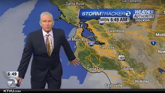 KTVU's Meteorologist Steve Paulson Reacts To 4.0 Earthquake On-Air