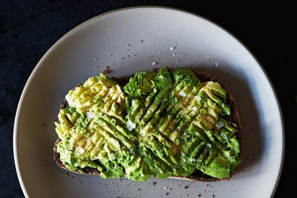 "<strong>Get the <a href=""http://food52.com/recipes/26766-avocado-toast"" target=""_blank"">Salted Avocado Toast recipe</a> from"
