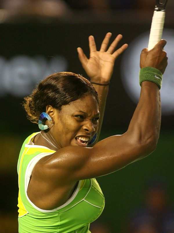 Serena Williams at the Australian Open in 2007.