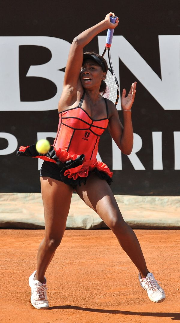 Venus Williams at the Rome Open in 2010.