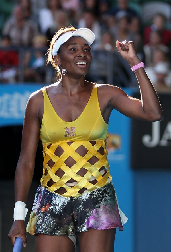 Venus Williams at Australian Open in 2011.