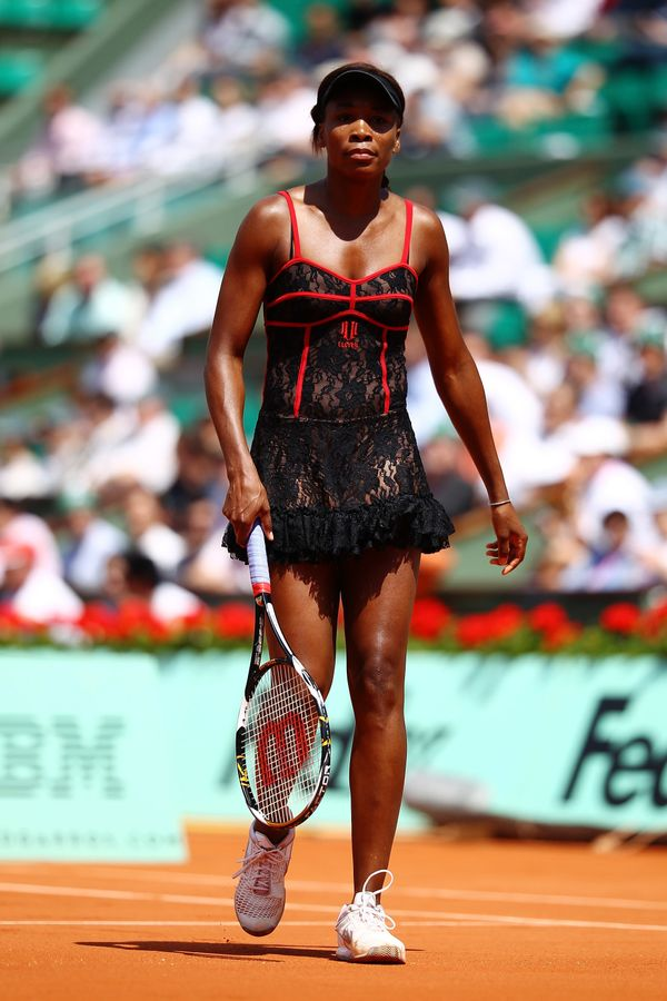 Venus Williams at the French Open in 2010.